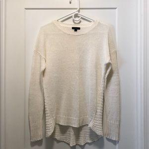 JCREW white sweater HIGH / LOW